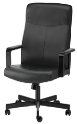 [FURN_0269] Office Chair Black
